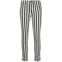 Nili Lotan Calça Jeans Skinny Cintura Alta Com Listras - Branco