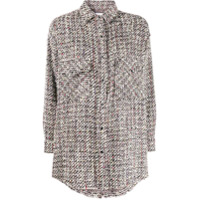 Iro Oversized Tweed Shirt - Preto