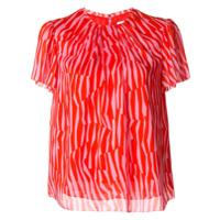 Ck Calvin Klein Blusa Com Estampa Geométrica - Vermelho