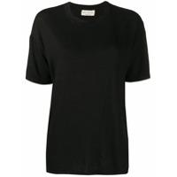 Ma'ry'ya Camiseta Modelagem Solta - Preto