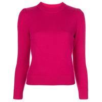 Co Suéter Decote Arredondado De Tricô - Rosa