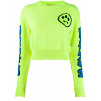 Barrow Suéter Com Padronagem - Amarelo