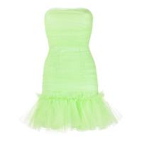 Brognano Vestido Tomara Que Caia Com Babados Na Barra - Verde