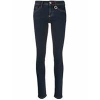 Philipp Plein Calça Jeans Slim Com Cintura Alta - Azul