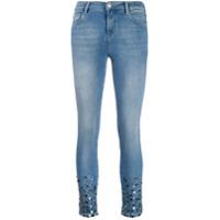 Twinset Calça Jeans Skinny Com Aplicação De Paetês - Azul