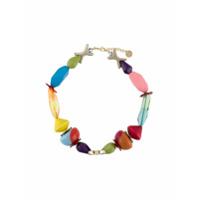 Missoni Colar Color Block Com Aplicação De Contas - Azul