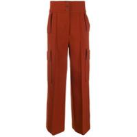 Stella Mccartney Calça Pantalona Cintura Alta - Marrom