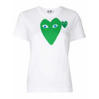 Comme Des Garçons Play Camiseta Slim Com Estampa - Branco