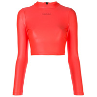 Koral Blusa Cropped Activa Infinity - Rosa