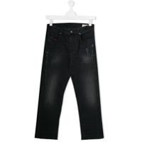 Diesel Kids Calça jeans skinny com aplicação - Cinza - FarFetch BR