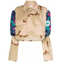 Rentrayage Jaqueta Com Estampa Camuflada E Recortes - Neutro