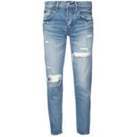 Moussy Vintage Calça Jeans Boyfriend Destroyed - Azul