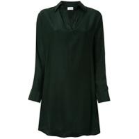 Pour Les Femmes Chemise Assimétrica - Verde