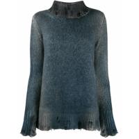 Avant Toi Suéter De Tricô Destroyed - Azul