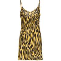 Double Rainbouu Vestido Animal Print - Amarelo