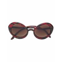 Delirious Óculos De Sol Oversized Com Armação Oval - Vermelho