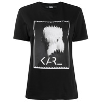 Karl Lagerfeld Camiseta Karl Legend Com Estampa Gráfica - Preto
