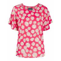 Boutique Moschino Blusa Mangas Curtas Com Estampa Floral - Vermelho