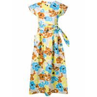 Isa Arfen Vestido Midi Com Estampa Floral - Azul
