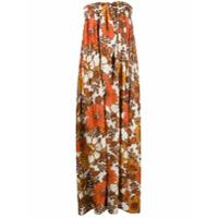 Dodo Bar Or Vestido Longo Com Estampa Floral - Neutro
