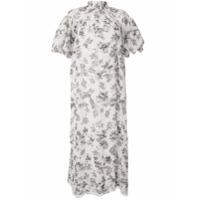 Lee Mathews Vestido Lucy De Seda Com Estampa Floral - Branco