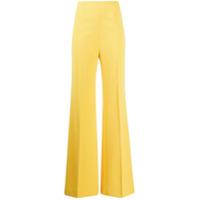 Boutique Moschino Calça Pantalona Cintura Alta - Amarelo