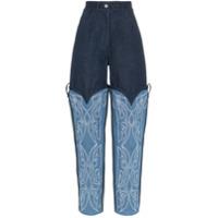 Asai Calça Jeans Com Bordado Cowboy - Azul