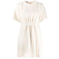 Alberta Ferretti Vestido Mini De Tweed - Branco