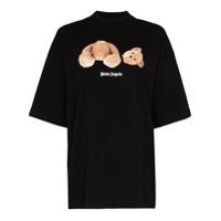 Palm Angels Camiseta Teddy Bear - Preto