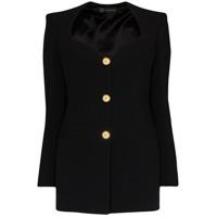 Versace Vestido Blazer Mini - Preto