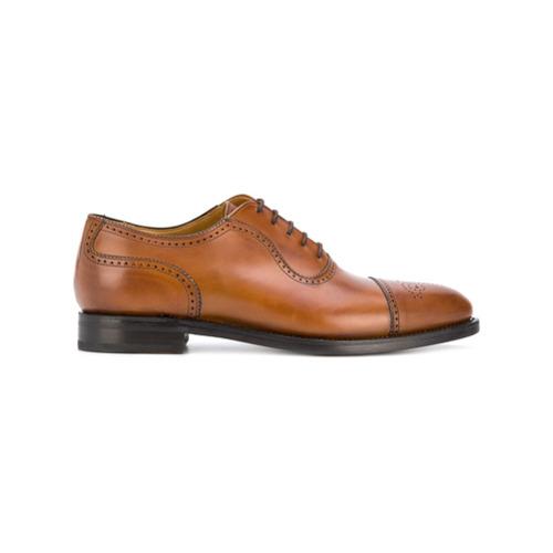Imagem de Berwick Shoes Sapato Oxford de couro com bordado - Marrom