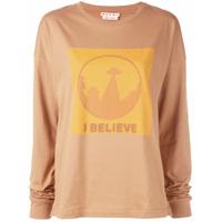 Marni Blusa De Moletom Com Slogan 'i Believe' - Marrom
