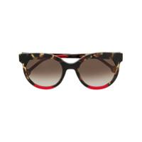 Ch Carolina Herrera Óculos De Sol Redondo - Vermelho
