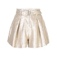 Jonathan Simkhai Shorts Com Pregas E Paetês - Dourado