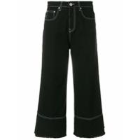 Msgm Calça Jeans Flare Cropped - Preto