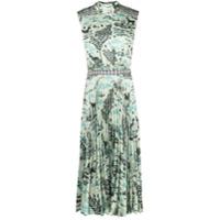 Saloni Vestido Midi Fleure Com Estampa Gráfica - Verde