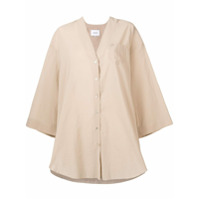 Nanushka V-Neck Oversized Shirt - Neutro