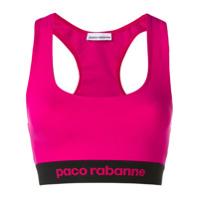 Paco Rabanne Top Esportivo Com Logo - Rosa