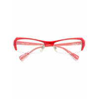 Alain Mikli Armação De Óculos Com Listras - Vermelho
