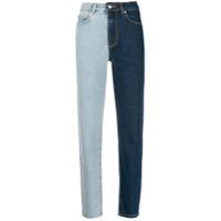 Fiorucci Calça Jeans Slim Bicolor - Azul