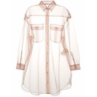 Tela Sheer Oversized Shirt - Rosa