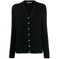 Alessandra Rich Cable Knit Cardigan - Preto
