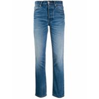 Ami Paris Calça Jeans Reta Com Bolsos - Azul