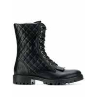 Trussardi Jeans Quilted Ankle Boots - Preto