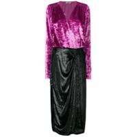 Attico Vestido Color Block - Rosa