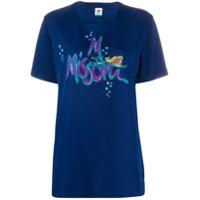 M Missoni Camiseta Com Logo Bordado - Azul