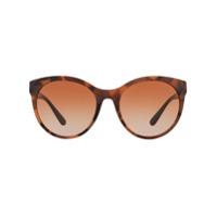 Burberry Eyewear Óculos De Sol Redondo - Marrom