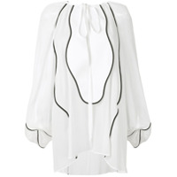 Genny Blusa Com Contraste - Branco