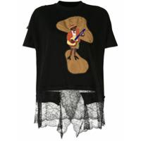 Antonio Marras Camiseta Com Aplicação Floral - Preto