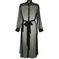 Osman Vestido Translúcido Com Poás - Preto